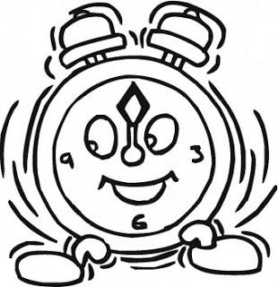 Desenhos de relógios para imprimir e colorir
