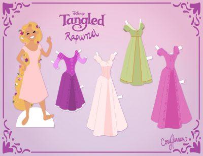 Princesas Disney para imprimir em cartolina recortar e vestir