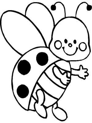 Imagens de insectos para imprimir e colorir