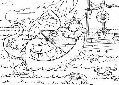Imagens de monstros para imprimir e colorir