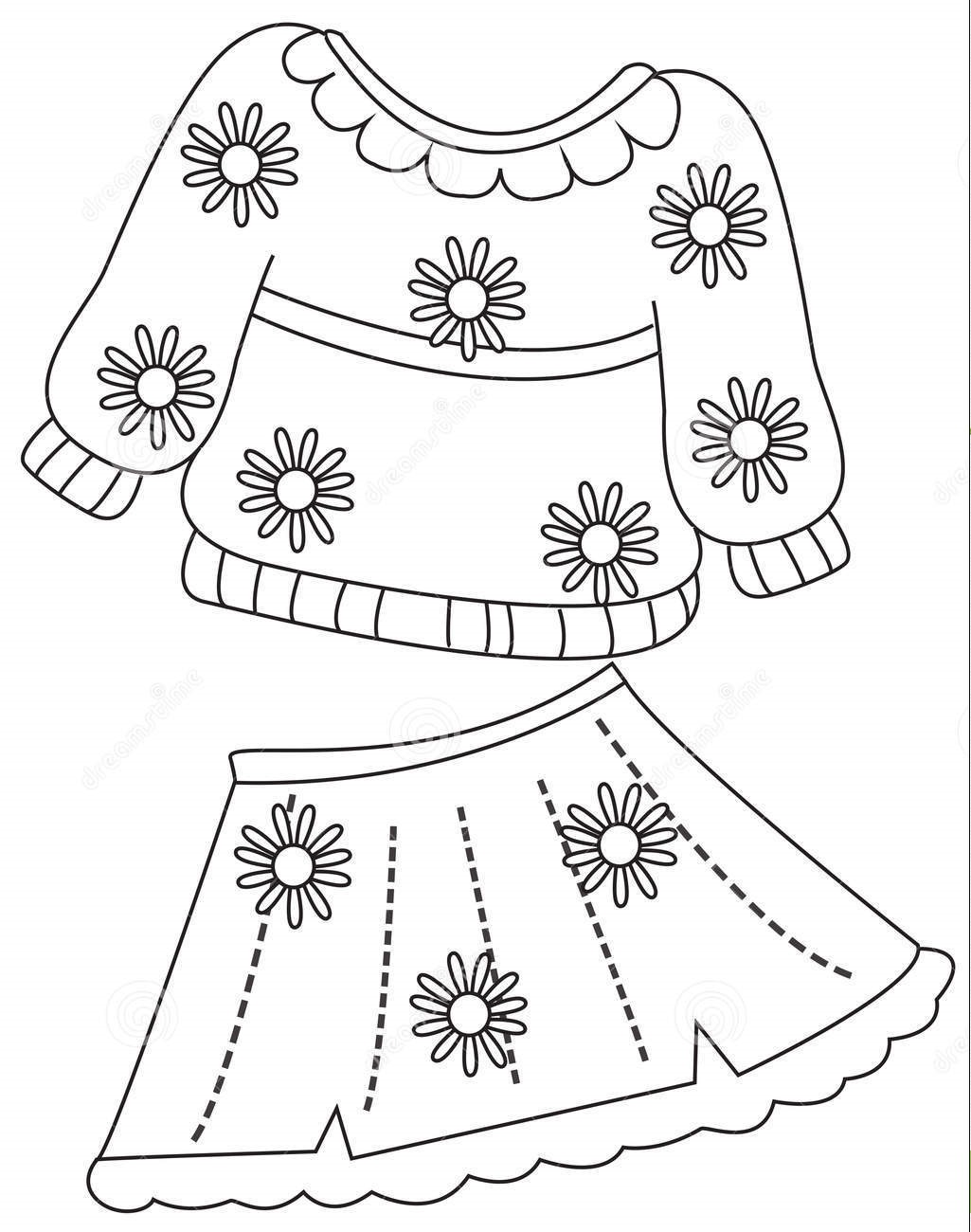 childrens clothes coloring pages - photo#30