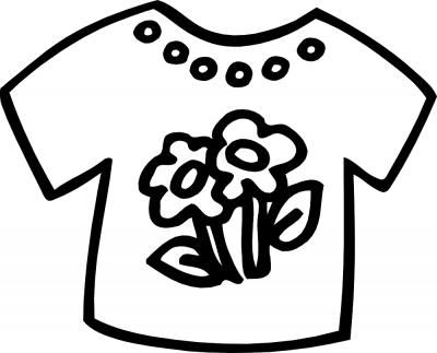Imagens de roupa para imprimir e colorir