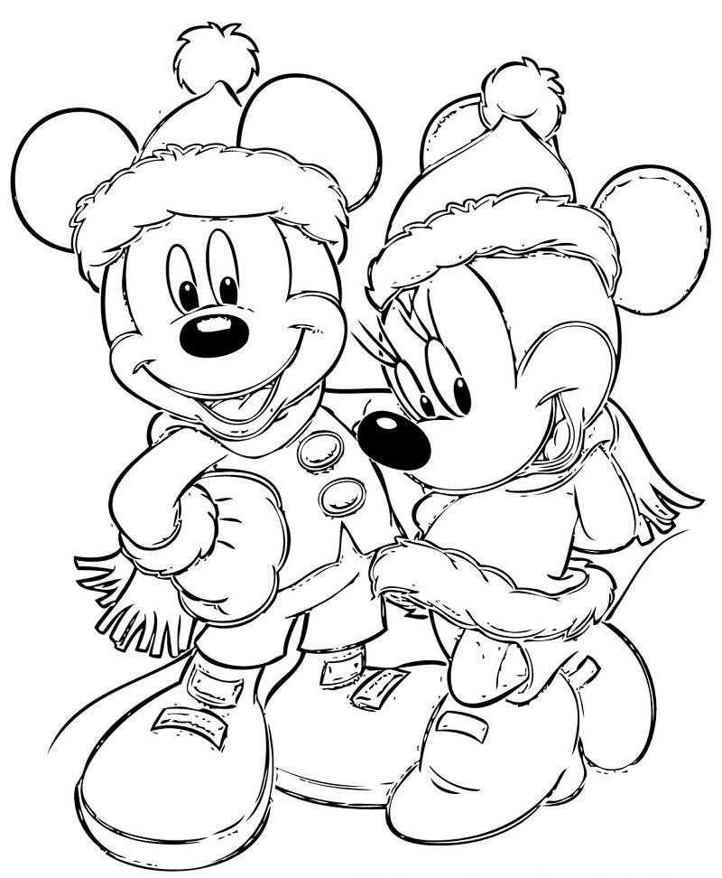 Imagens Da Minnie E Do Mickey Para Imprimir E Colorir 12