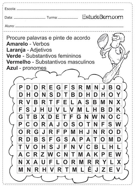 Atividade Portugues 4 Ano Para Imprimir 5 Fichas E Atividades