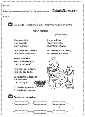 Atividades de português para o 4° ano do 1º ciclo 1