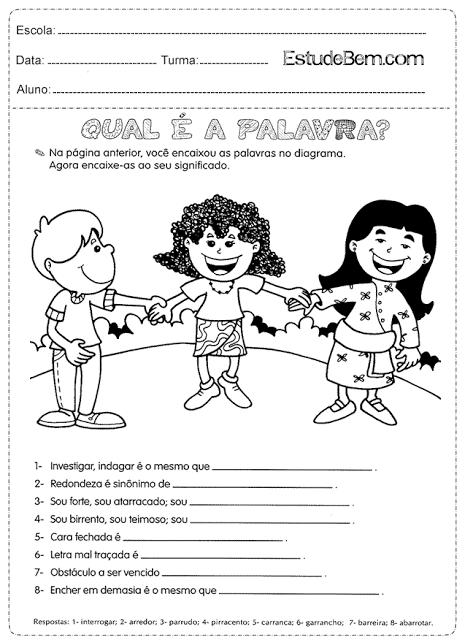 Atividades de português para o 4° ano do 1º ciclo -5