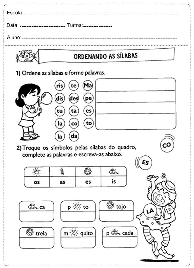 Fabuloso Atividades português 2° ano fundamental - Fichas e Atividades AC78