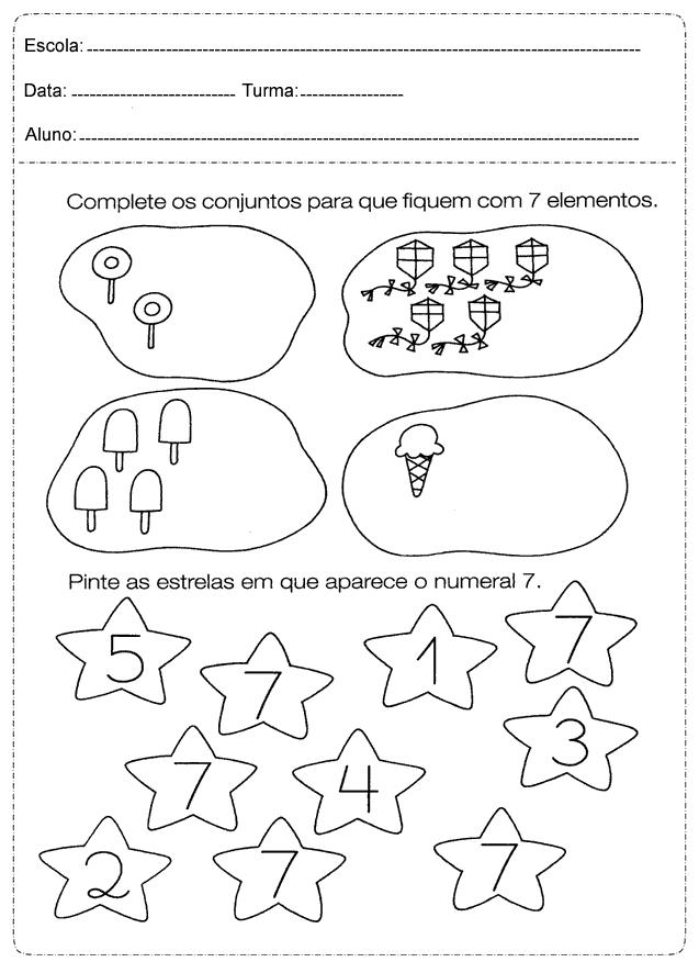 atividades 1º ano - 1 - Fichas e Atividades