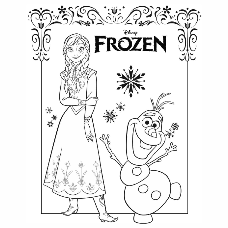 Frozen Coloring Pages A4 : Desenhos para colorir frozen fichas e atividades