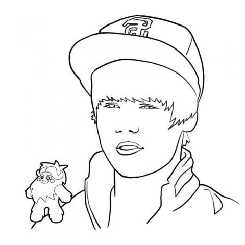 Desenhos Para Colorir Justin Bieber
