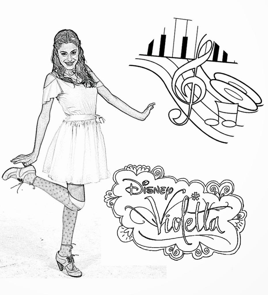Desenhos para colorir da Violetta