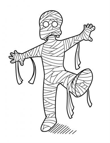 Desenhos para colorir múmias