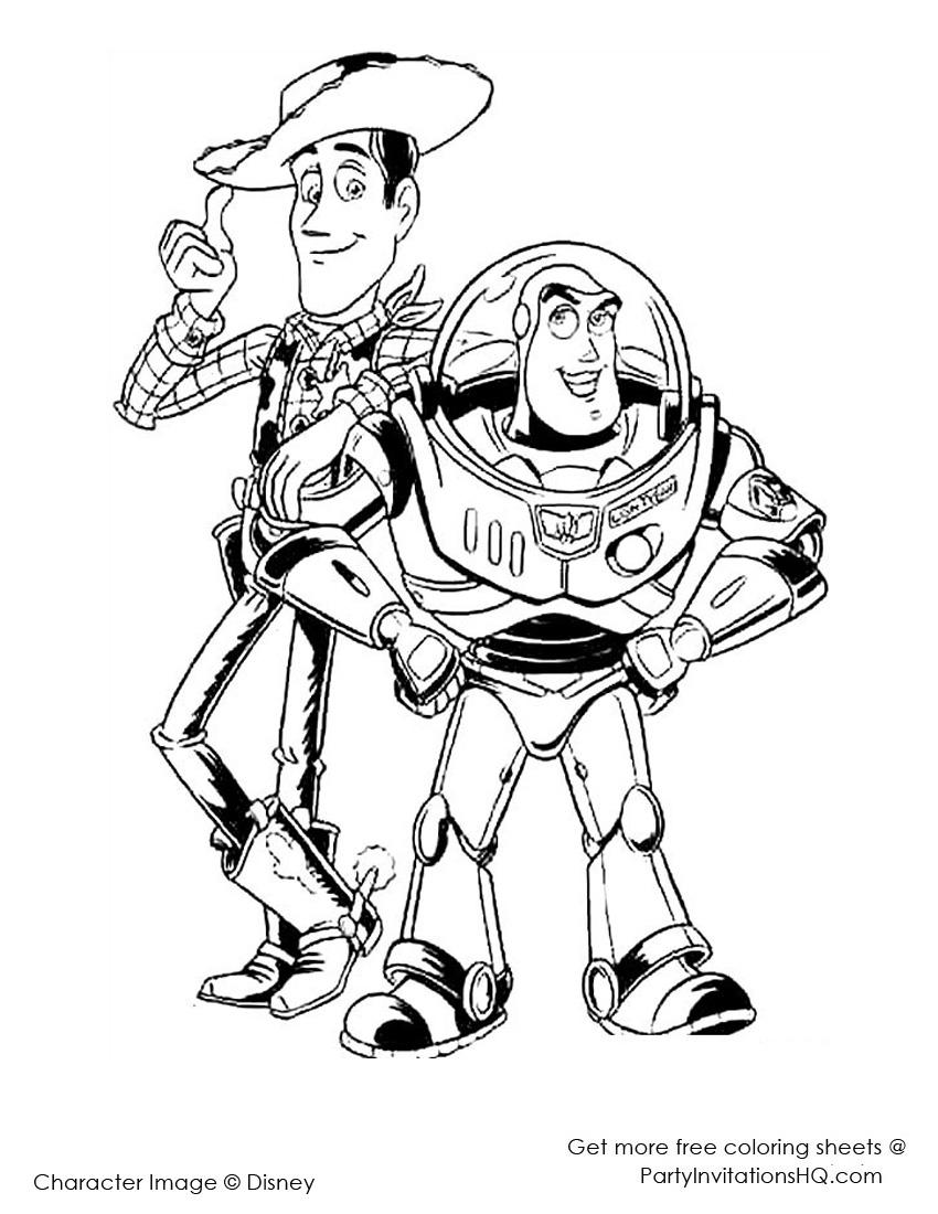 Toy Story Pintar. Toy Story Para Colorear Et El Para Pintar Y Color ...