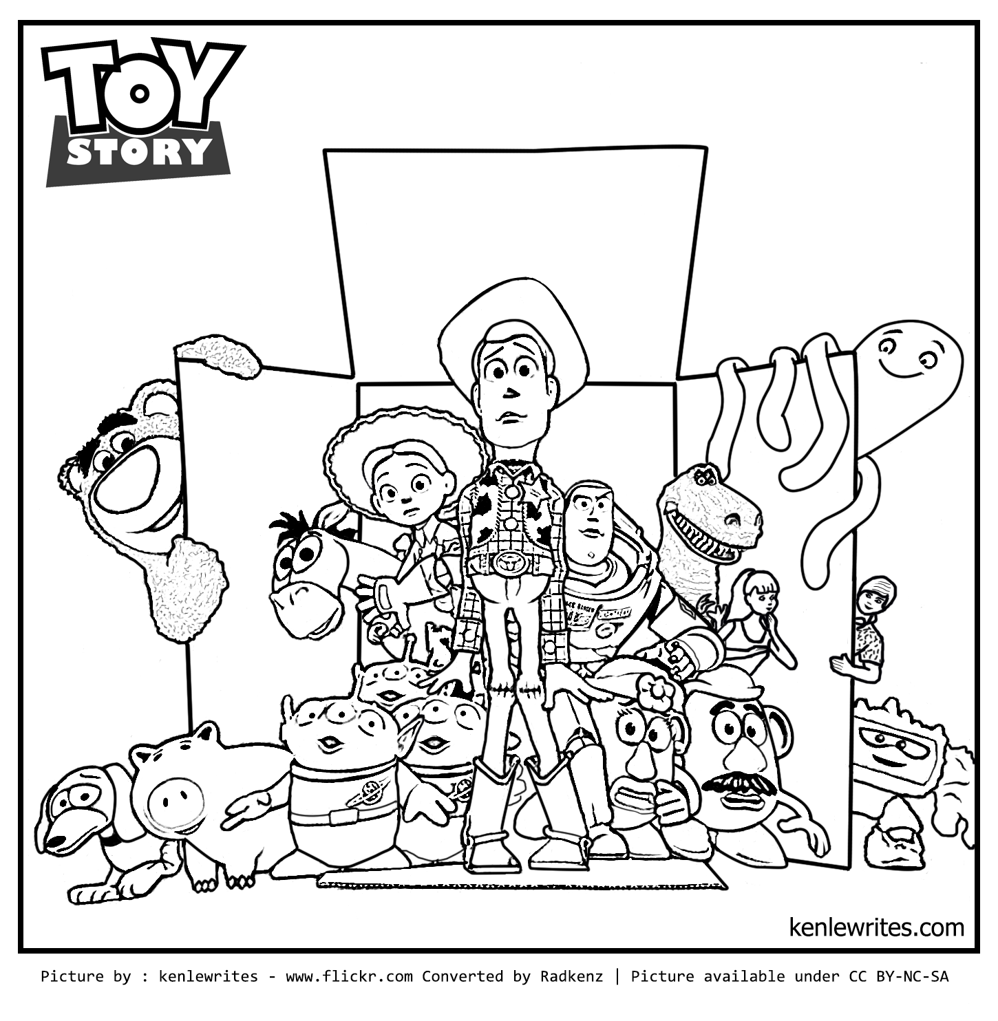 Imagens do toy story para pintar 4 fichas e atividades for Toy story 3 jessie coloring pages