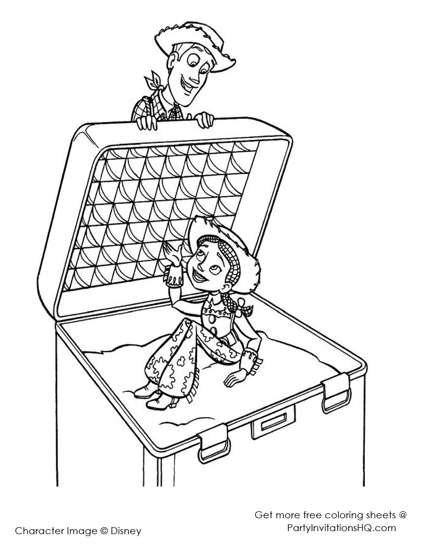 Imagens do Toy Story para pintar - 6 - Fichas e Atividades