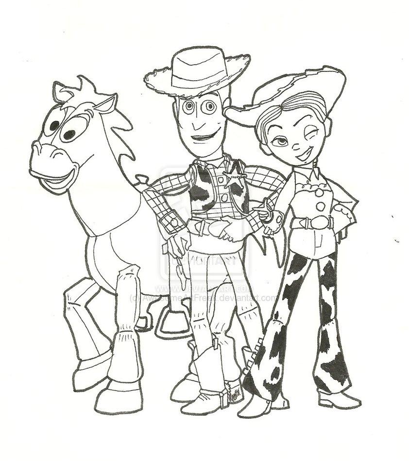 Bonito Woody Para Colorear Motivo - Enmarcado Para Colorear ...