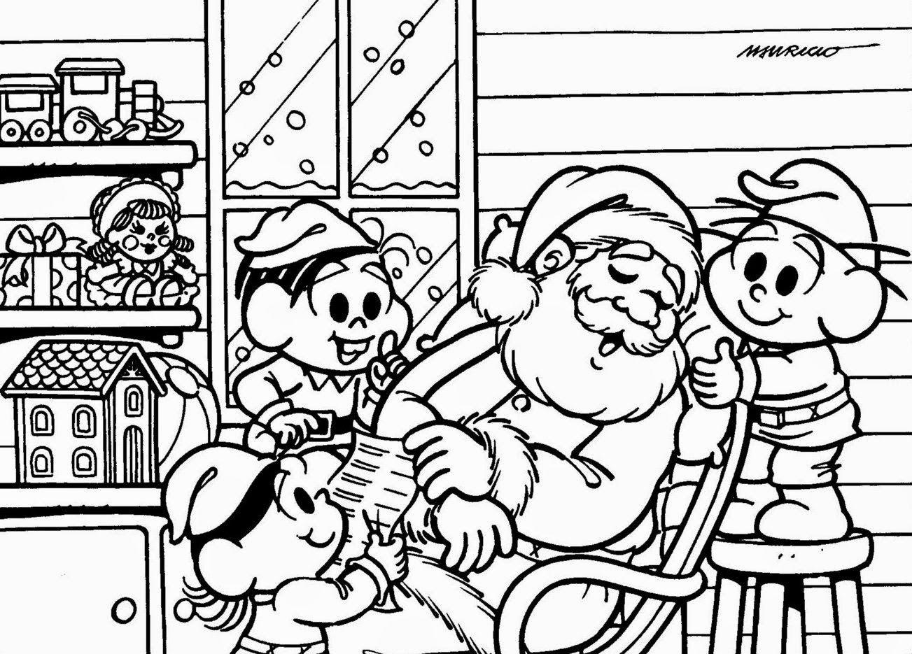 Imagens Para Colorir Do Papai Noel 1 Fichas E Atividades
