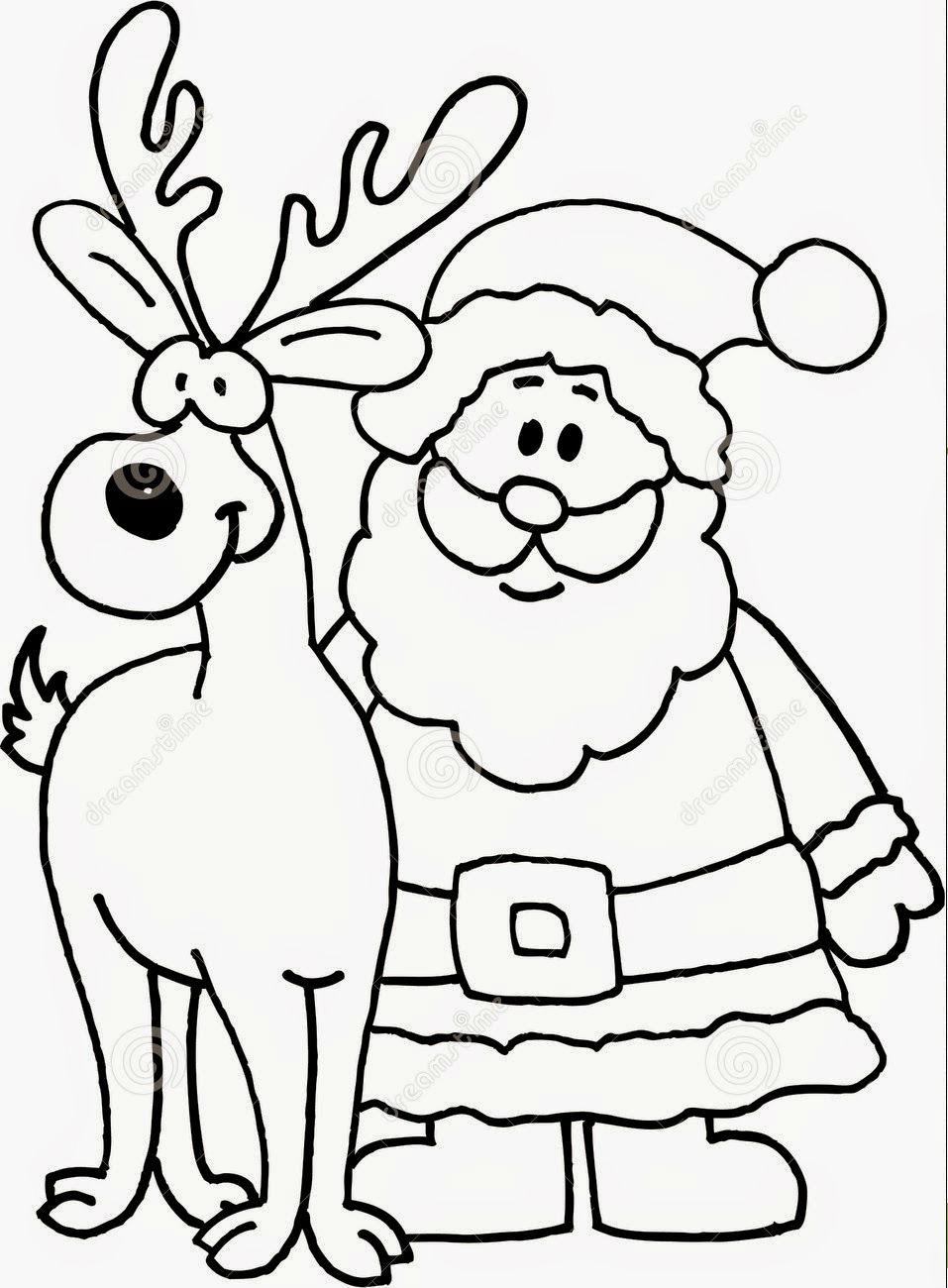 Desenho De Um Papai Noel Para Colorir Melhores Casas De Todas As