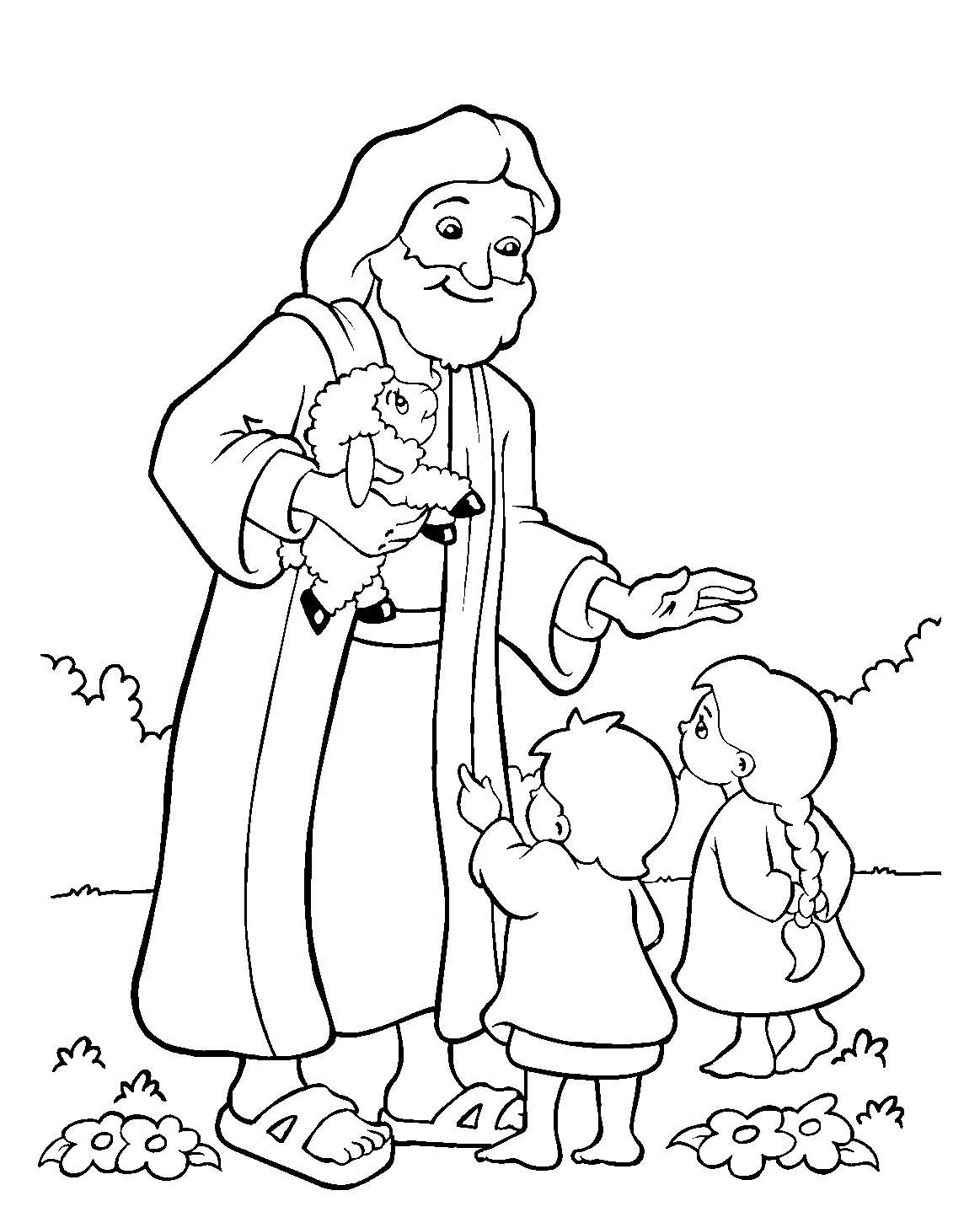 friends of jesus coloring pages - photo#31