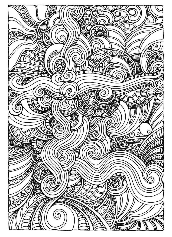 Desenhos para colorir para aliviar o stress fichas e - Coloriage art ...