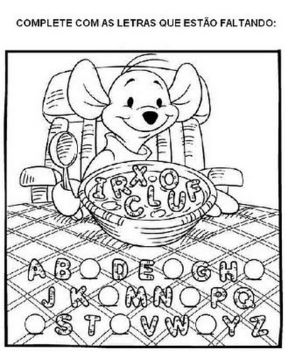 Fichas para Pré-Escolar - Vogais e Alfabeto