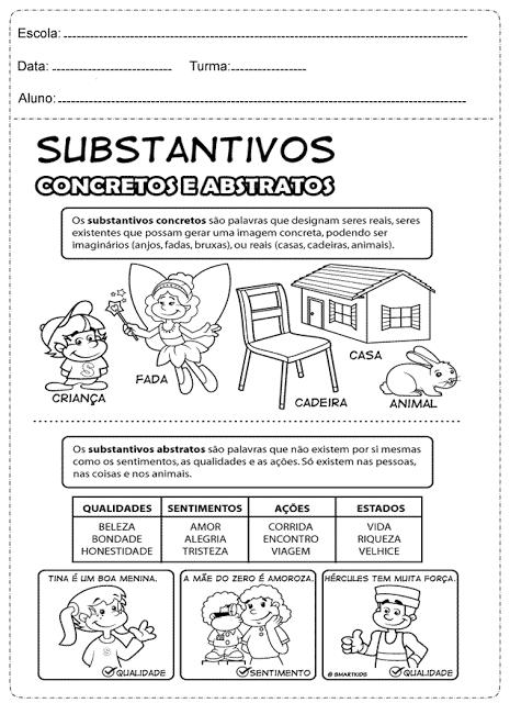 Atividades com substantivos