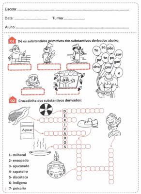 Atividades de Português com substantivos