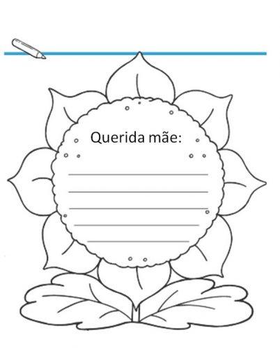 Atividades de escrita para o Dia das Mães