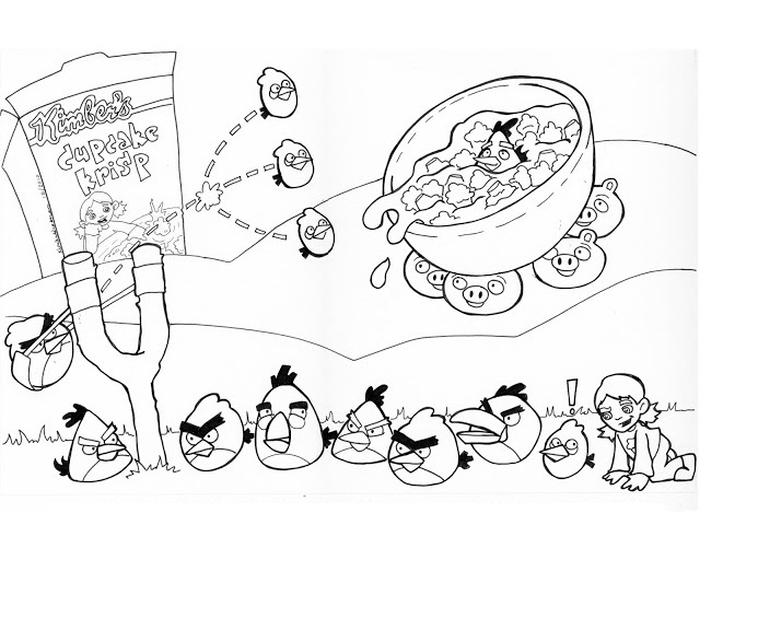 Desenhos Para Pintar Angry Birds
