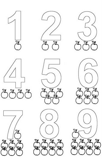 Fichas para Pré-Escolar – Números