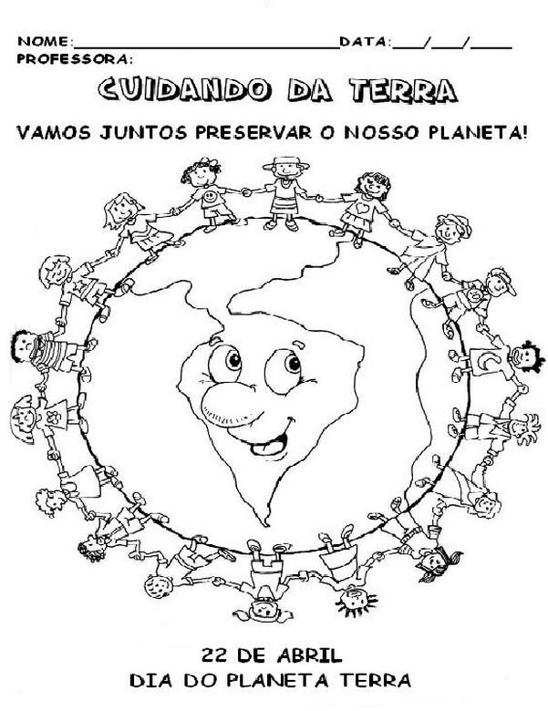 Atividades Escolares Para O Dia Mundial Da Terra 9 Fichas E