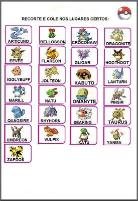 Atividades em Inglês Pokemos Go