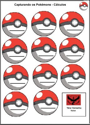 Atividades escolares com Pokemon Go - Matemática