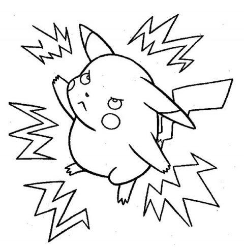 Desenhos do Pikachu para imprimir e colorir Educação line