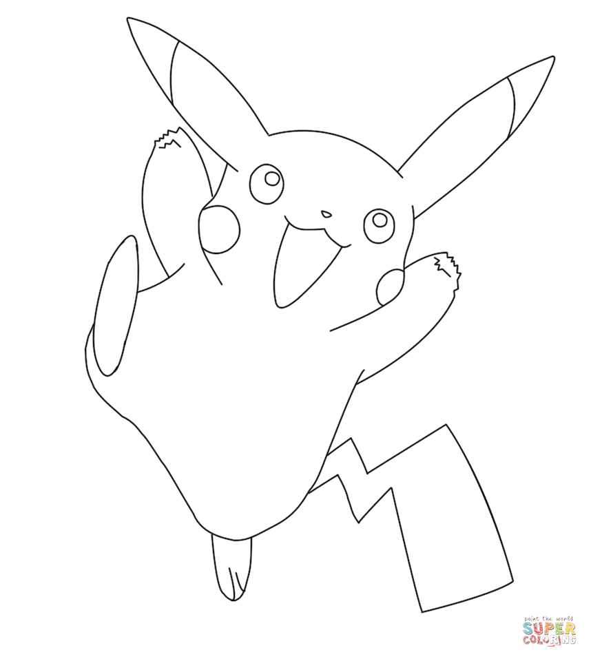 Desenhos do pikachu para imprimir e colorir educa o online for Pikachu coloring page