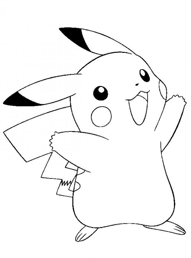 Desenhos Do Pikachu Para Imprimir E Colorir Educacao Online