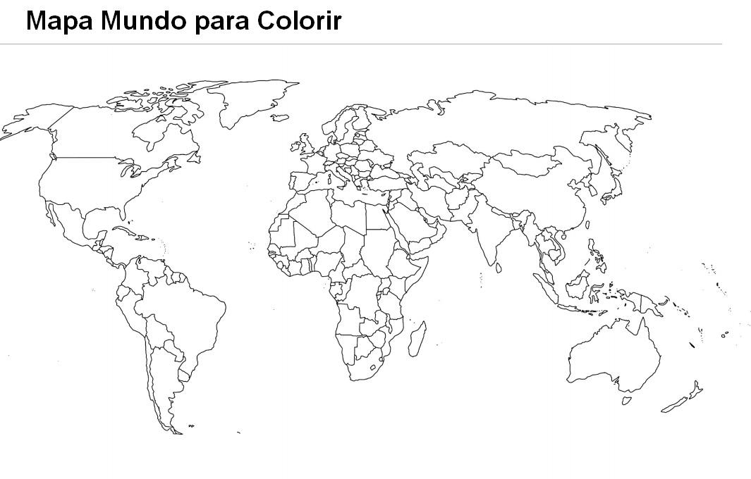 mapa mundo para colorir Imagens do mapa mundo para imprimir e colorir   Fichas e Atividades mapa mundo para colorir