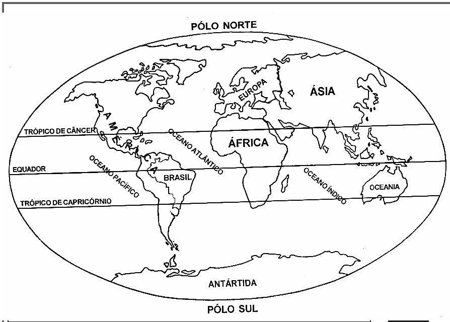 Imagens Do Mapa Mundo Para Imprimir E Colorir Educacao Online