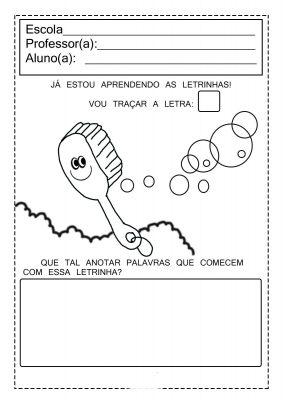 atividades escolares com vogais
