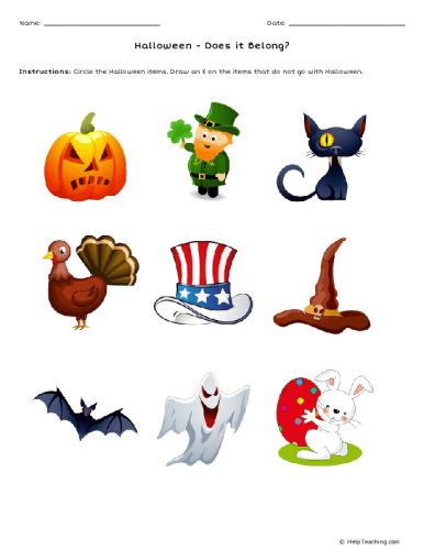 Actividades escolares em Inglês para o Halloween 1