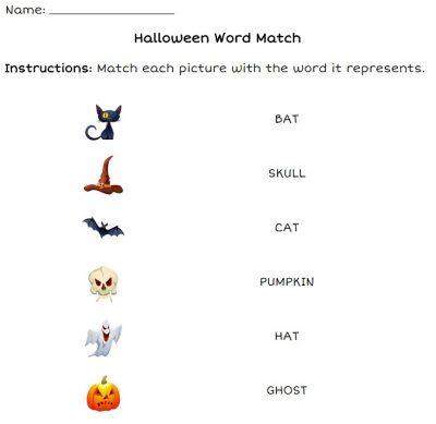 Actividades escolares em Inglês para o Halloween 2