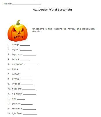 Actividades escolares em Inglês para o Halloween 5