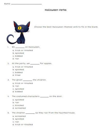 Actividades escolares em Inglês para o Halloween 6