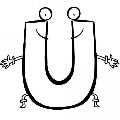Desenhos de letras com carinhas para colorir