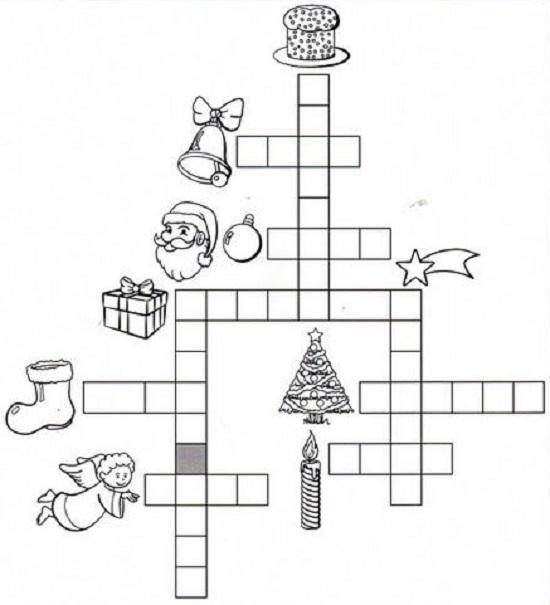 Palavras cruzadas para divertir as crianças no Natal