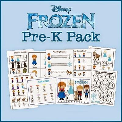 Atividades criativas para idade Pré-Escolar - Frozen
