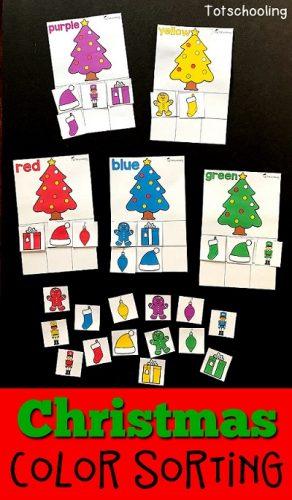 Atividades de Natal - Brincando com as cores