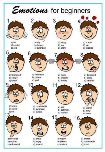 Expressões e Emoções em Inglês para o 1º Ciclo
