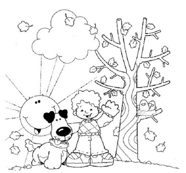 Desenhos Para Imprimir E Colorir As Cores Do Outono 8 Fichas E