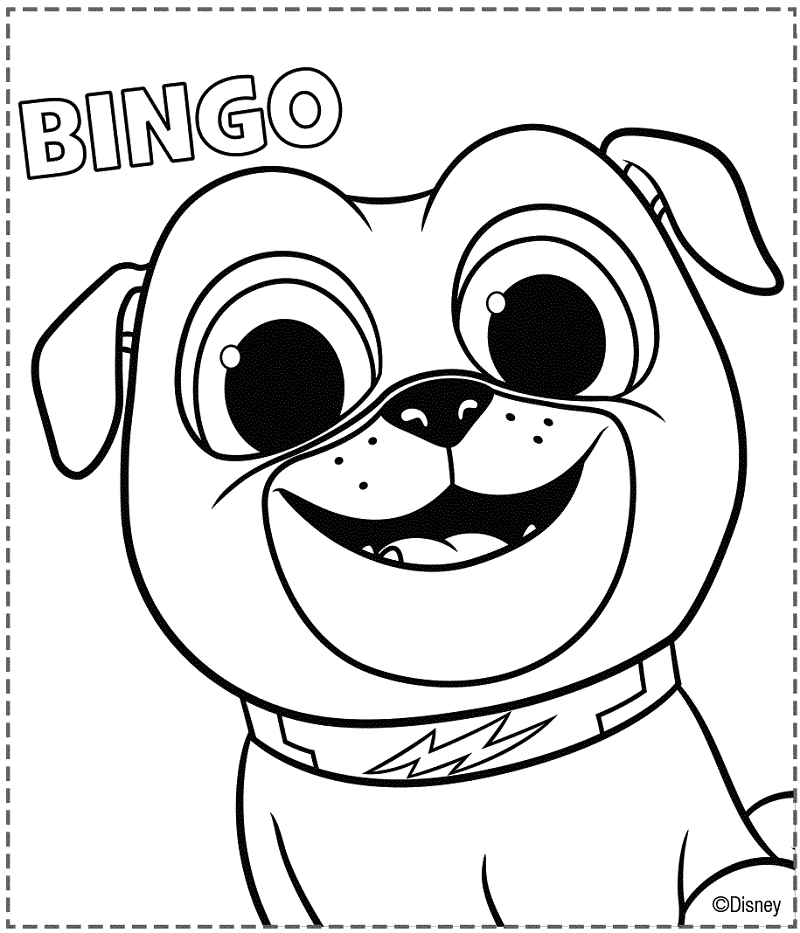 Puppy Dog Colouring In